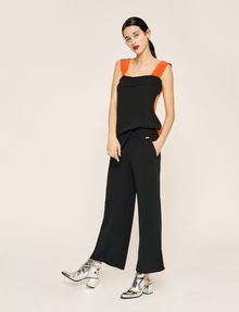 ARMANI EXCHANGE STITCHED WAIST WIDE-LEG PANT Culotte Woman d