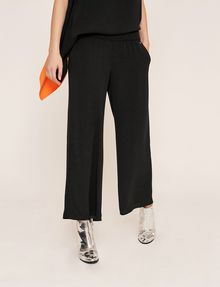 ARMANI EXCHANGE STITCHED WAIST WIDE-LEG PANT Culotte Woman f