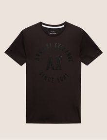 ARMANI EXCHANGE SLIM-FIT 1991 LOGO ARC CREW Logo T-shirt Man r