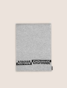 ARMANI EXCHANGE BICOLOR BEANIE AND RECTANGULAR SCARF SET Scarf Man d