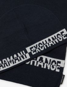 ARMANI EXCHANGE BICOLOR BEANIE AND RECTANGULAR SCARF SET Scarf Man r