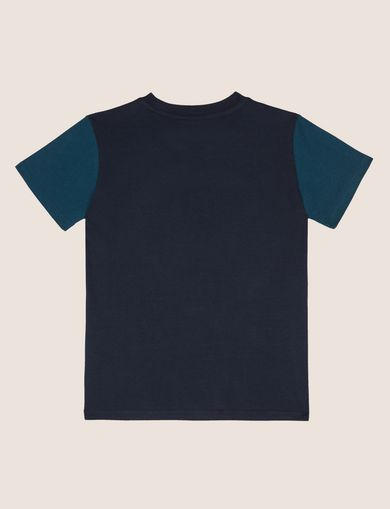 BOYS SLIM-FIT COLORBLOCK CIRCLE LOGO TEE