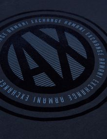 ARMANI EXCHANGE BOYS SLIM-FIT COLORBLOCK CIRCLE LOGO TEE Logo T-shirt [*** pickupInStoreShippingNotGuaranteed_info ***] d