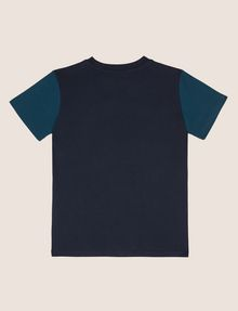 ARMANI EXCHANGE BOYS SLIM-FIT COLORBLOCK CIRCLE LOGO TEE Logo T-shirt [*** pickupInStoreShippingNotGuaranteed_info ***] r
