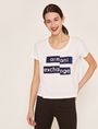 ARMANI EXCHANGE FRAGMENTED EMOJI CROP Logo T-shirt [*** pickupInStoreShipping_info ***] f