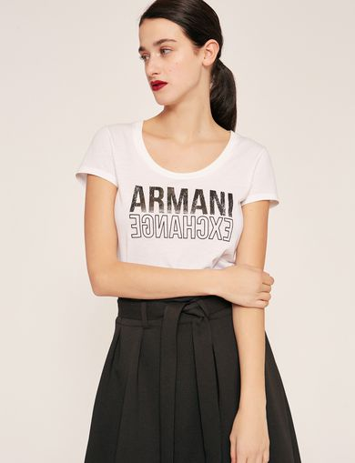 ARMANI EXCHANGE T-shirt con logo Donna F