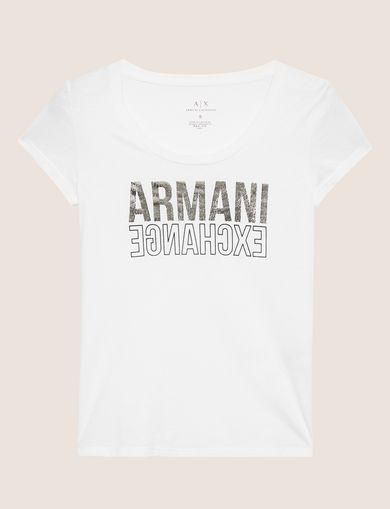 ARMANI EXCHANGE T-shirt con logo Donna R