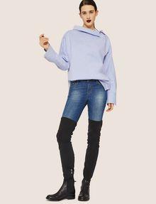 ARMANI EXCHANGE ASYMMETRICAL COLLAR BLOUSE Plain Shirt Woman d