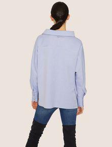 ARMANI EXCHANGE ASYMMETRICAL COLLAR BLOUSE Plain Shirt Woman e