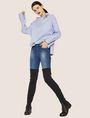ARMANI EXCHANGE ASYMMETRICAL COLLAR BLOUSE Plain Shirt Woman a