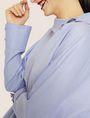 ARMANI EXCHANGE ASYMMETRICAL COLLAR BLOUSE Plain Shirt Woman b