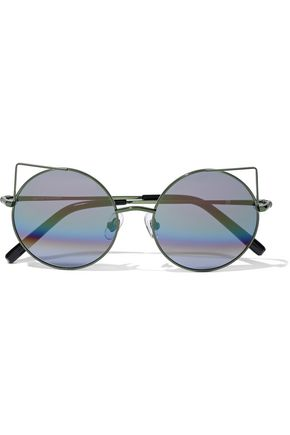 MATTHEW WILLIAMSON Round-frame metal sunglasses