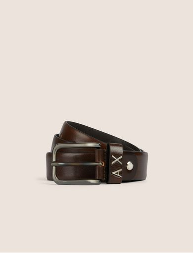 METAL LOGO LOOP BELT