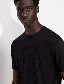ARMANI EXCHANGE CLASSIC CIRCLE LOGO CREW Logo T-shirt [*** pickupInStoreShippingNotGuaranteed_info ***] b