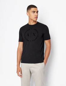 ARMANI EXCHANGE CLASSIC CIRCLE LOGO CREW Logo T-shirt [*** pickupInStoreShippingNotGuaranteed_info ***] f