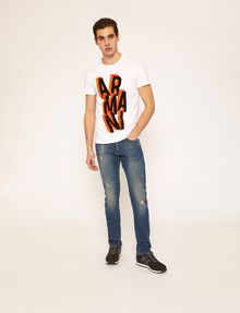 ARMANI EXCHANGE BLOCK LETTER SLIM LOGO TEE Logo T-shirt Man d