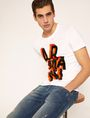 ARMANI EXCHANGE BLOCK LETTER SLIM LOGO TEE Logo T-shirt Man a