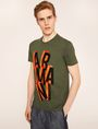 ARMANI EXCHANGE BLOCK LETTER SLIM LOGO TEE Logo T-shirt Man f