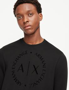 ARMANI EXCHANGE CLASSIC CIRCLE LOGO CREWNECK SWEATER Fleece Top [*** pickupInStoreShippingNotGuaranteed_info ***] b