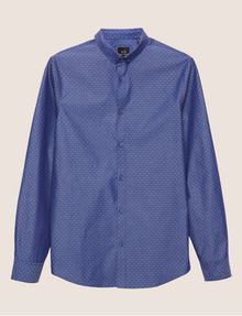 ARMANI EXCHANGE SLIM-FIT MINI-DIAMOND PRINT SHIRT Long-Sleeved Shirt Man r