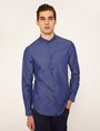 ARMANI EXCHANGE SLIM-FIT MINI-DIAMOND PRINT SHIRT Long-Sleeved Shirt Man f