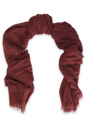 RICK OWENS Cotton and cashmere-blend scarf