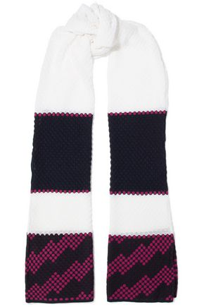 M MISSONI Crochet-knit cotton-blend scarf