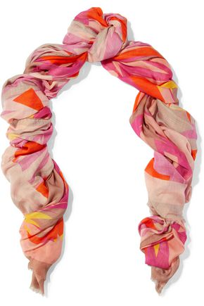 M MISSONI Printed modal and cashmere-blend gauze scarf