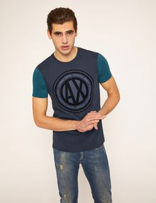 ARMANI EXCHANGE CIRCLE COLORBLOCK SLIM LOGO TEE Logo T-shirt Man f