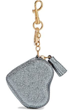 ANYA HINDMARCH Metallic cracked-leather coin purse