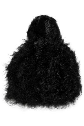 KARL DONOGHUE Pompom-embellished shearling beanie