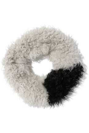 KARL DONOGHUE Two-tone shearling snood
