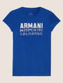 ARMANI EXCHANGE GLITTER STUD SHADOW LOGO TEE Logo T-shirt Woman r