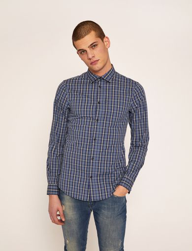 SLIM-FIT PLAID STRETCH SHIRT