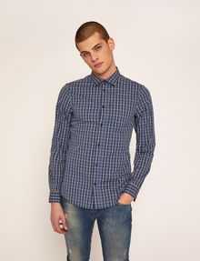 ARMANI EXCHANGE SLIM-FIT PLAID STRETCH SHIRT Checked Shirt [*** pickupInStoreShippingNotGuaranteed_info ***] f