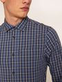 ARMANI EXCHANGE SLIM-FIT PLAID STRETCH SHIRT Checked Shirt [*** pickupInStoreShippingNotGuaranteed_info ***] b
