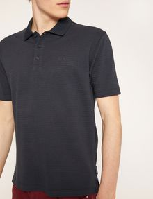 ARMANI EXCHANGE TONAL STRIPE-FRONT POLO SHORT SLEEVES POLO Man b