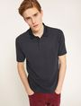 ARMANI EXCHANGE TONAL STRIPE-FRONT POLO SHORT SLEEVES POLO Man a