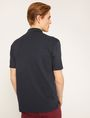 ARMANI EXCHANGE TONAL STRIPE-FRONT POLO SHORT SLEEVES POLO Man e