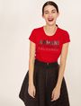 ARMANI EXCHANGE GLITTER STUD SHADOW LOGO TEE Logo T-shirt Woman a