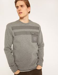ARMANI EXCHANGE UTILITY-STYLE PIECED LOGO SWEATSHIRT Fleece Top Man a