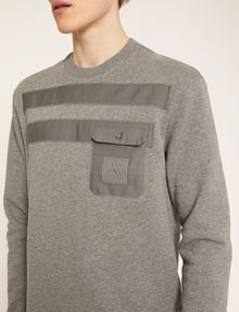 ARMANI EXCHANGE UTILITY-STYLE PIECED LOGO SWEATSHIRT Fleece Top Man b