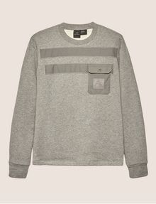 ARMANI EXCHANGE UTILITY-STYLE PIECED LOGO SWEATSHIRT Fleece Top Man r