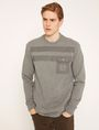 ARMANI EXCHANGE UTILITY-STYLE PIECED LOGO SWEATSHIRT Fleece Top Man f