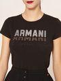 ARMANI EXCHANGE GLITTER STUD SHADOW LOGO TEE Logo T-shirt [*** pickupInStoreShipping_info ***] b
