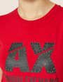ARMANI EXCHANGE SLASHED STUD LOGO TEE Logo T-shirt Woman b