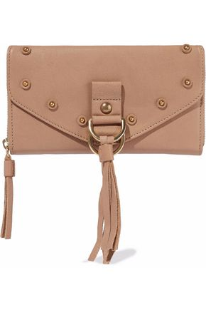 SEE BY CHLOÉ Collins tasseled textured-leather continental wallet