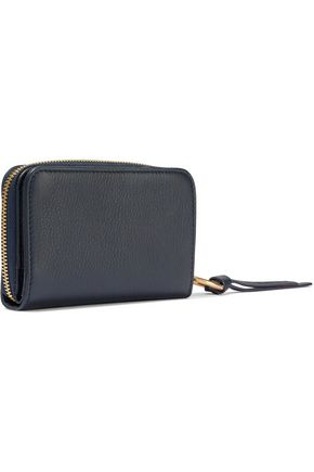 SEE BY CHLOÉ Appliquéd textured-leather wallet