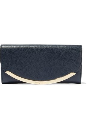 SEE BY CHLOÉ Embellished textured-leather wallet