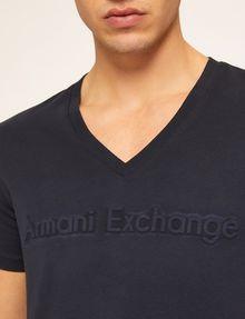 ARMANI EXCHANGE DEBOSSED TONAL LOGO TEE Logo T-shirt Man b
